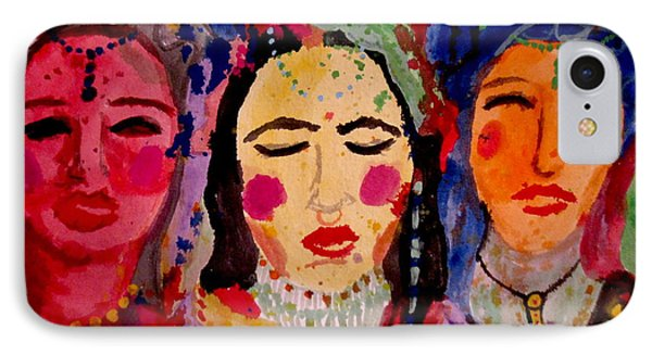 3 Queens Of Color IPhone Case by Amy Sorrell