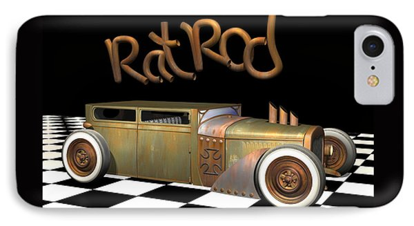 Rat Rod Sedan Phone Case by Stuart Swartz