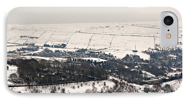 Remote Farmland On The Snow Covered Yorkshire Moors IPhone Case