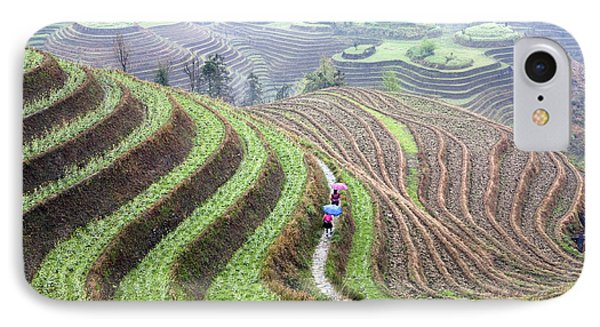 Rice Terraces IPhone Case