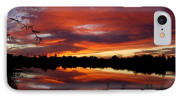 IPhone Case featuring the photograph Riparian Sunset by Tam Ryan