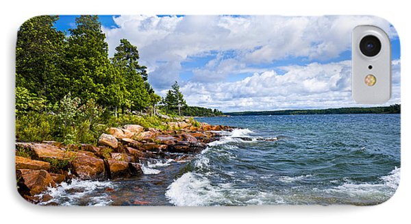 Rocky Shore Of Georgian Bay IPhone Case by Elena Elisseeva