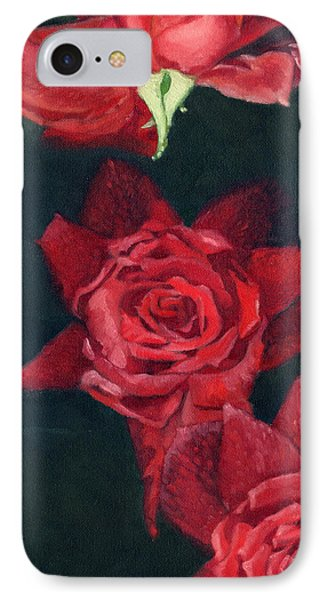 3 Roses Red IPhone Case by Katherine Miller