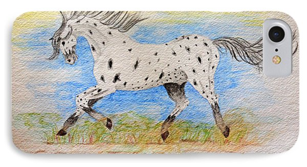 Running Free IPhone Case by Debbie Portwood