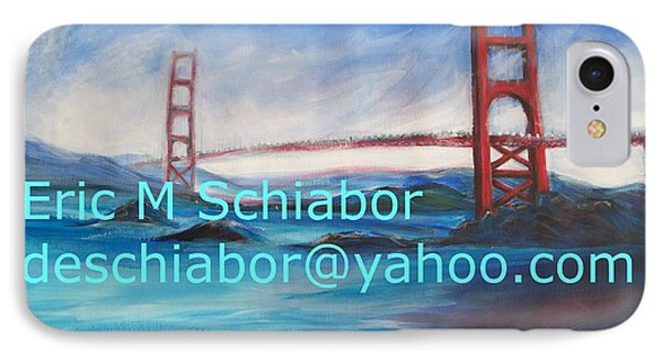 IPhone Case featuring the painting San Francisco Golden Gate Bridge by Eric  Schiabor