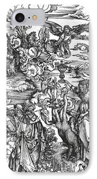 Scene From The Apocalypse IPhone Case by Albrecht Durer or Duerer