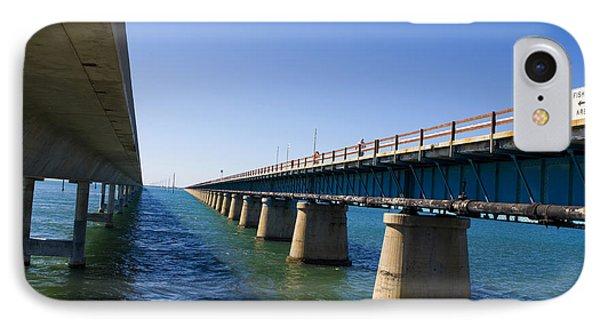 Seven Mile Bridge Florida Keys IPhone Case by Jason O Watson