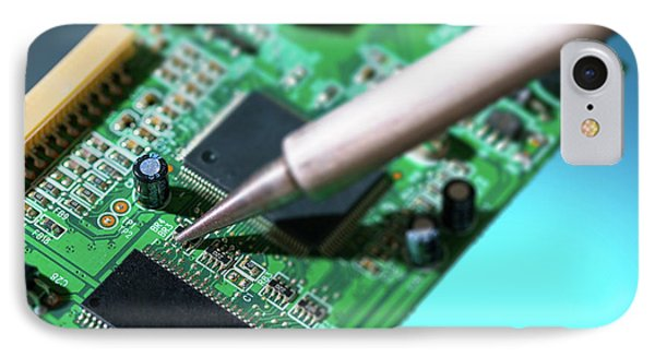 Soldering An Circuit Board IPhone Case by Wladimir Bulgar