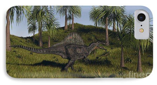 Spinosaurus Hunting In An Open Field Phone Case by Kostyantyn Ivanyshen