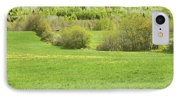 Spring Farm Landscape In Maine IPhone Case by Keith Webber Jr