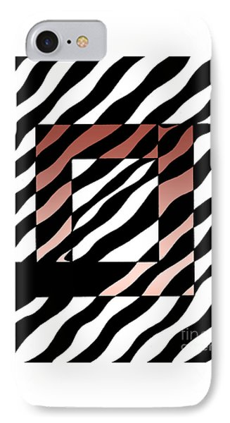 IPhone Case featuring the drawing 3 Squares With Ripples by Joseph J Stevens