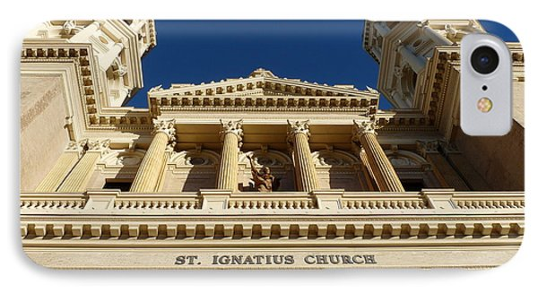 St. Ignatius Catholic Church IPhone Case by Jeff Lowe