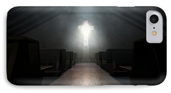 Stained Glass Window Crucifix Church IPhone Case by Allan Swart