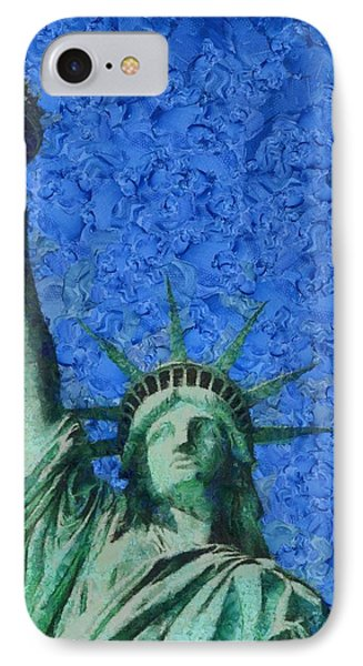 Statue Of Liberty Phone Case by Dan Sproul