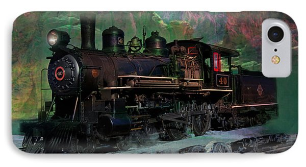 Steam Locomotive Phone Case by Gunter Nezhoda