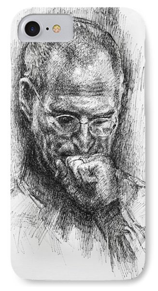 Steve Jobs IPhone Case by Ylli Haruni