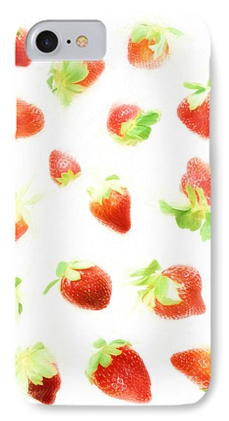 Strawberries IPhone Case by HD Connelly