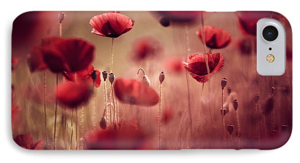 Flowers iPhone 7 Case - Summer Poppy by Nailia Schwarz