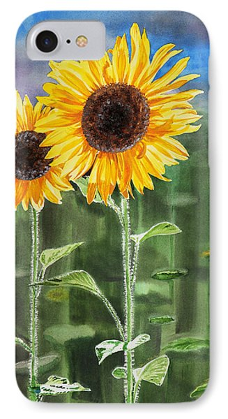 Sunflowers IPhone Case by Irina Sztukowski