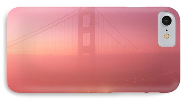 Suspension Bridge Covered With Fog IPhone Case