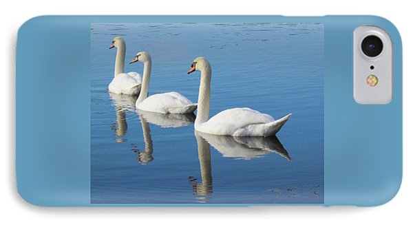 3 Swans A-swimming IPhone Case