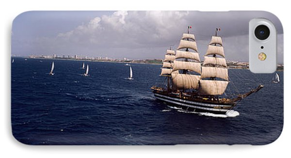 Tall Ship In The Sea, Puerto Rico IPhone Case by Panoramic Images