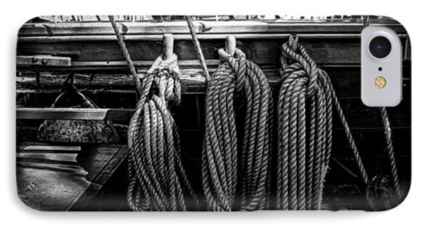 Tall Ship Rigging IPhone Case by Pixabay