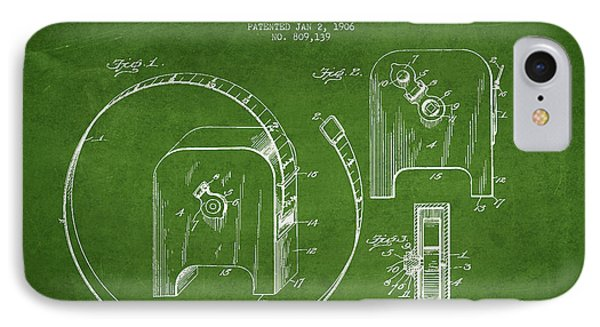 Tape Measure Patent Drawing From 1906 IPhone Case by Aged Pixel