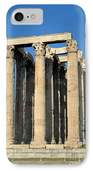 Temple Of Olympian Zeus In Athens Phone Case by George Atsametakis