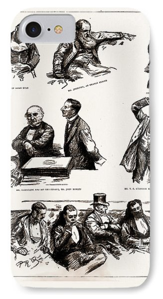 The Home Rule Debate In The House Of Commons IPhone Case by Litz Collection