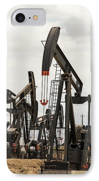 The Kern River Oilfield In Oildale IPhone Case by Ashley Cooper