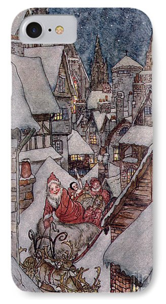 'the Night Before Christmas IPhone Case by Arthur Rackham