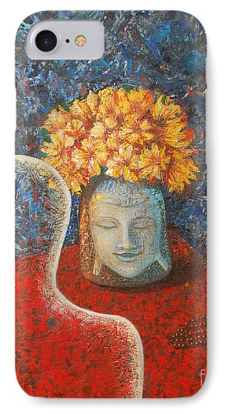 Tibetan Prayers IPhone Case by Mini Arora
