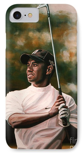 Golf iPhone 7 Case - Tiger Woods  by Paul Meijering