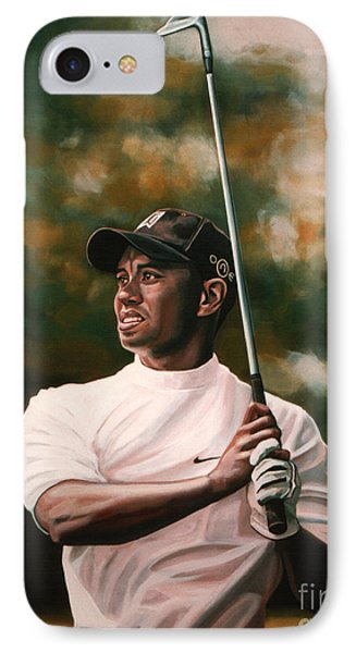 Tiger Woods  IPhone Case by Paul Meijering