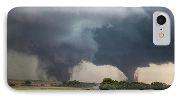 Twin Tornados IPhone Case by Roger Hill
