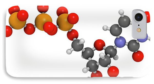 Uridine Triphosphate Nucleotide Molecule IPhone Case by Molekuul