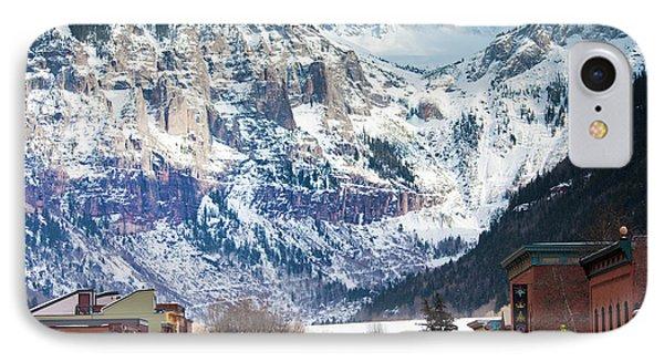 Usa, Colorado, Telluride, Main Street IPhone Case by Walter Bibikow