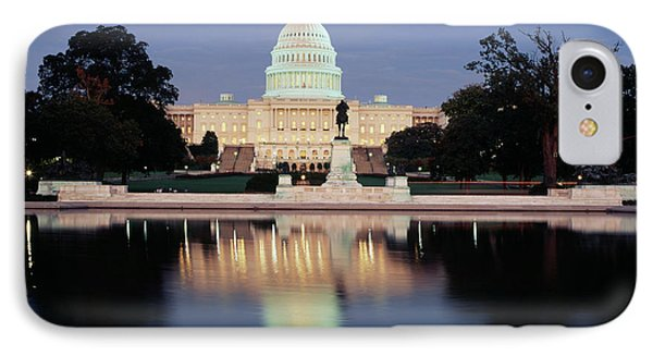 Capitol Building iPhone 7 Case - Usa, Washington Dc, Capitol Building by Walter Bibikow