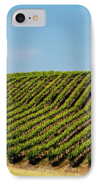 Usa, Washington, Rolling Vineyards IPhone Case by Terry Eggers