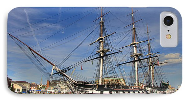 Uss Constitution IPhone Case by Joann Vitali