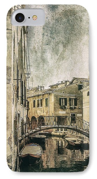 Venice Back In Time IPhone Case by Julie Palencia