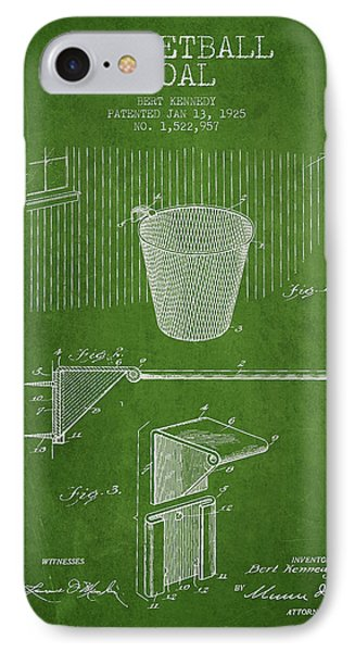 Vintage Basketball Goal Patent From 1925 Phone Case by Aged Pixel