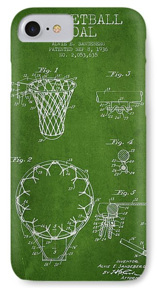 Vintage Basketball Goal Patent From 1936 Phone Case by Aged Pixel