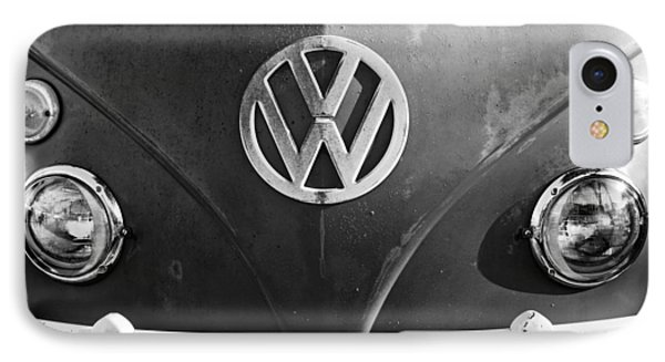 Volkswagen Vw Bus Front Emblem IPhone Case by Jill Reger