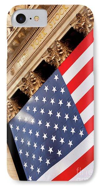 Wall Street Flag Phone Case by Brian Jannsen