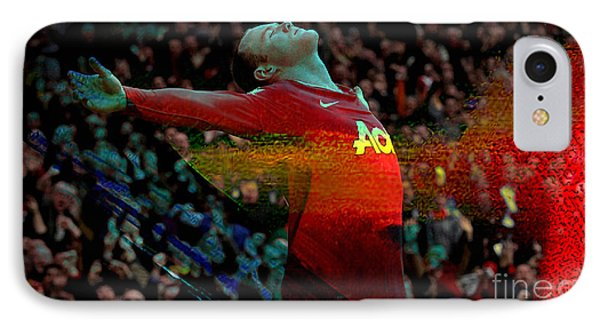 Wayne Rooney IPhone 7 Case by Marvin Blaine