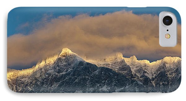Wetterstein Mountain Chain With Mt IPhone Case by Martin Zwick