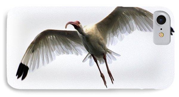 White Ibis Phone Case by Mark Newman