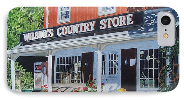 IPhone Case featuring the mixed media Wilbur's Country Store by Constance Drescher